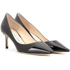 Jimmy Choo Romy 60 Patent Leather Pumps (8.315 ARS) ❤ liked on Polyvore featuring shoes, pumps, black, jimmy choo shoes, patent shoes, black pumps, black patent pumps and black shoes