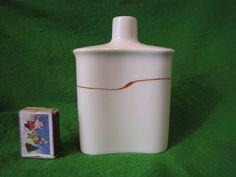 Vintage Sweden Rorstrand Inger Persson ceramic White flask Bottle Vase 5 Inch #Rorstrand #IngerPersson