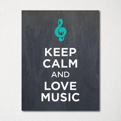 Bewahren Sie die Ruhe und Liebe Musik  8 x 10 Fine von LetsKeepCalm