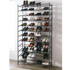 Color Negra, Shoe Rack, Shoes, Shoes Organizer, Organizers, Black, Colors, Ice, Metal