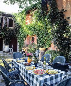 Wonderful French Courtyard by Jacques Grange | Veranda A Passion for Living.