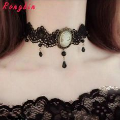 Womens Gothic Alloy Victorian Lady Head Black & White Cameo Bead Drop Pendant Ribbon Choker Chunky Necklace Collar Vintage Retro #Victorian gothic fashion http://www.ku-ki-shop.com/shop/victorian-gothic-fashion/womens-gothic-alloy-victorian-lady-head-black-white-cameo-bead-drop-pendant-ribbon-choker-chunky-necklace-collar-vintage-retro-3/