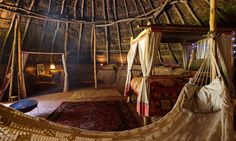 An Iron-Age Celtic roundhouse. Recreation of the interior and furnishings - Cornwall. Unique place to stay
