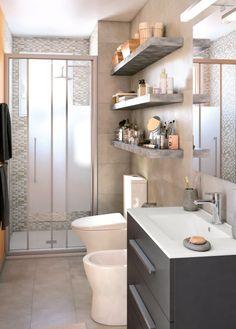 Un secreto para una buena distribución en espacios pequeños, son los muebles de fondo reducido
