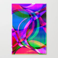 Weave in the Breeze Stretched Canvas by Vikki Salmela - $85.00 #canvas #art #home #decor #fun #graphic #ribbons #swirls #geometric #contemporary #bedroom #living room #office