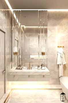 Bathroom decor for your master bathroom renovation. Discover bathroom organization, bathroom decor tips, master bathroom tile ideas, bathroom paint colors, and more. Dream Bathrooms, Amazing Bathrooms, Small Bathroom, Bathroom Ideas, Luxurious Bathrooms, Bathroom Designs, Minimal Bathroom, Marble Bathrooms, Boho Bathroom