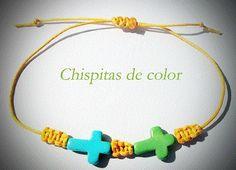 """Modelo """"shambala cruces"""" por sólo 2,5 €. Posibilidad de más colores de cruces y de hilo."""