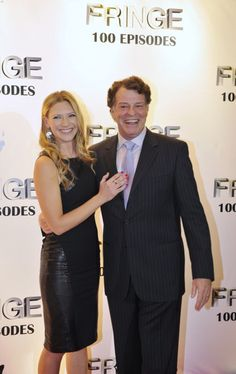 FRINGE 100TH EPISODE PARTY   Anna Torv & John Nobel love these two together!