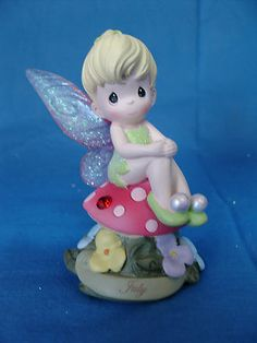 Tinker Bell May Birthday Light Up Disney Precious Moments Figurine Peter Pan | eBay