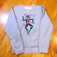 Mardi Gras embroidery applique dancer wearable art