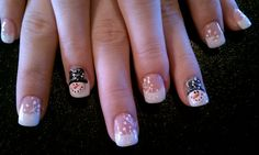 Early snowman nails :)