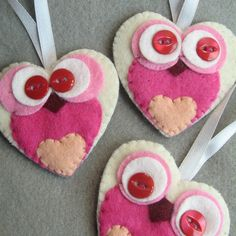 Pink Owl decorations £8.00