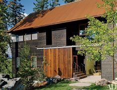 Barn doors admit guests to what the Stones affectionately call the Tree House