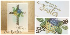 Stampin' Up! Demonstrator Lea Denton - May Peace Be Your Gift This Easter & Flourish Thinlits Easter Card #eastercard, #flourishthinlits, #leadenton, #stamping, #stampinup, #thecraftyspark, #tutorial, embossing, flourish thinlits, tutorial, video