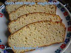Gyors fehér kenyér, maglisztekből (Gluténmentes) Banana Bread, Desserts, Recipes, Food, Yogurt, Tailgate Desserts, Deserts, Essen, Postres