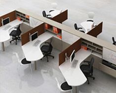 Setting Up New Office Space? Office Cubicle Design, Office Space Design, Modern Office Design, Office Furniture Design, Office Interior Design, Office Interiors, Contemporary Office, Business Office Decor, Home Office