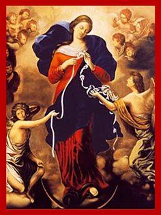ORACIONES Y CONJUROS: ORACIÓN A MARIA QUE DESATA NUDOS