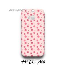 Red Apple Pattern HTC M8 Hardshell Case Cover
