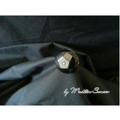 Black resin ring with Swarovski.  Price € 12,00