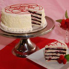 Raspberry Truffle Smith Island Cake