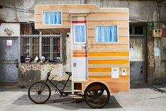 Bike camper van.