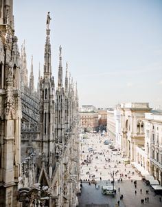 Discover the hidden treasures of #Milan during your next Italian adventure, like this gorgeous view from above of the city.
