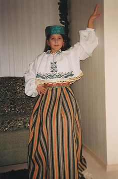 Estonian folk costume