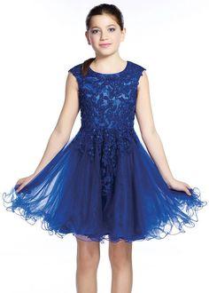 Lexie by Mon Cheri TW21535 Girls Cap Sleeve Dress
