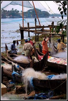 Fishermen, Kochi, India