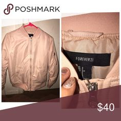 Forever 21 bomber jacket Pearl pink, brand new , size small Forever 21 Jackets & Coats