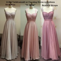 Various detachable straps options Bridesmaids, Bridesmaid Dresses, Prom Dresses, Formal Dresses, Belle Bridal, Store Design, Evening Dresses, Custom Design, Beauty