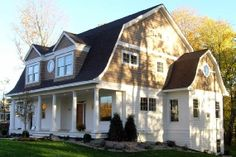 Dutch colonial exterior on pinterest for Dutch colonial garage plans