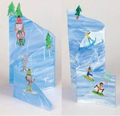 Winter Crafts For Kids Winter Art Projects, Winter Project, Winter Crafts For Kids, Winter Kids, Art For Kids, Winter Thema, Josi, 4th Grade Art, Art Lessons Elementary