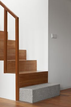 staircase inside the Private House in Viseu by Bau.Uau Arquitectura.