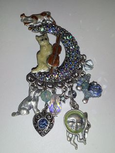 Vintage Kirks Folly 'The Cat & The Fiddle The Cow by GildedLylly, $75.00