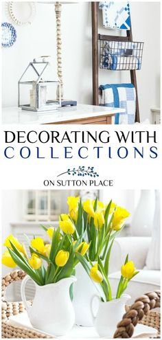 Easy DIY home decor ideas for decorating with collections. Room decor ideas and how to decorate with the things you love. #homedecor #vintage #vintagesilver #ironstone #quilts #vintagequilts