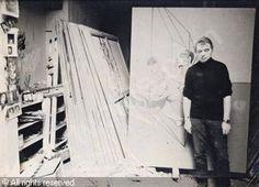 Francis Bacon in his studio 1970.