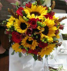 beautiful Autumn flower center pieces