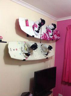 #wakeboard rack - pink!