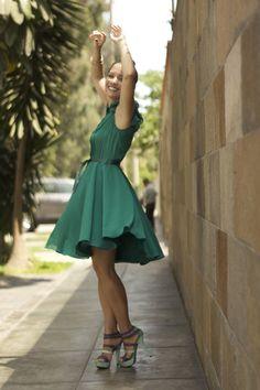 Vestido Verde Esmeralda de Roger Loayza + Zapatos LalaLove + La Vida de Serendipity 3