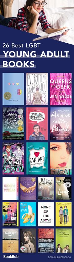 This is a YA LGBTQ+ list book list filled with great fiction for teens. All of the books feature gay, lesbian, bisexual, or trans characters and people.