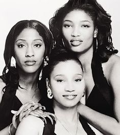 """SWV (Sisters With Voices), American female R&B trio comprised of friends Cheryl """"Coco"""" Gamble (& her fingernails), Tamara """"Taj"""" Johnson & Leanne """"Lelee"""" Lyons. Formed as a gospel group, they became one of the most successful R&B groups of the 1990s. They had a series of hits, including Weak, Right Here/Human Nature, Downtown, Anything, I'm So into You, Always on My Mind, Use Your Heart, Rain & You're the One. The group disbanded in 1998 to pursue solo projects, and reunited in 2005."""
