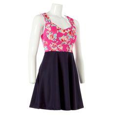 Floral Color Block Skater Dress - Jr. Senior Photo Outfits, Junior Dresses, Skater Dress, Jr, Formal Dresses, Floral, Color, Fashion, Shopping