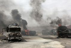 Learn about the aid that the USA offers to Mali when a bomb planted by the Taliban destroyed 22 NATO trucks carrying supplies to their forces in northern Afghanistan.