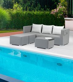 Jack Lounge Textil Outdoor Sectional, Sectional Sofa, Outdoor Furniture Sets, Outdoor Decor, Lounges, Home Decor, Products, Green Living Rooms, Lounge Furniture
