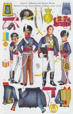"""Ufficiali e sottufficiali della """"Royal Horse Artillery """" e """"Rocket Troop"""" britannici"""