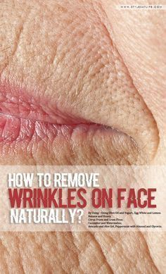 How To Remove Wrinkles On Face Naturally Face wrinkles can diminish your beauty. Here are the best home remedies methods for how to remove wrinkles on face naturally. Beauty Care, Beauty Skin, Beauty Hacks, Diy Beauty, Beauty Ideas, Face Beauty, Beauty Style, Face Wrinkles, Prevent Wrinkles