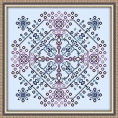 Starburst Mandala Cross Stitch Pattern Digital Download