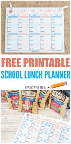 Tired of sending old peanut butter & jelly sandwiches to school? Stay organized and add variety to your kids' snacks and lunches with this free printable school lunch planner. Plus it helps kids independently pack their own lunches! (sponsored)