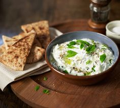 This fresh and simple Greek dip is perfect served with toasted pitta bread for a party platter or served with slow roast lamb